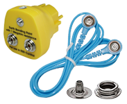 Earthing cables, Earthing boxes, Snap fasteners