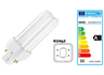 Compact fluorescent lamp with plug-in socket, 18 W, 4000 K, 1200 lm