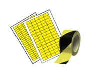 Inspection labels, plates and tapes