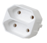 Double connector, 1022, white