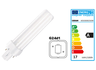 Compact fluorescent lamp with plug-in socket, 13 W, 3000 K, 900 lm