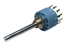 Multistep rotary switch, 1, 2 x 6 contacts, 1.0 A/2.0 VDC, 0.5 A/24 VDC, 0.4 A/42 VDC