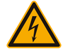 Warning Sign, Danger: Electricity, W 1 A, Sm 25 mm