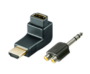Adapter for audio connectors, video connectors
