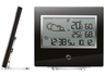 Radio-controlled weather station, BAR 800, black