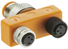T adapter, M 8, with 2 miniature jacks, 3-pole, ASBS 2 M8